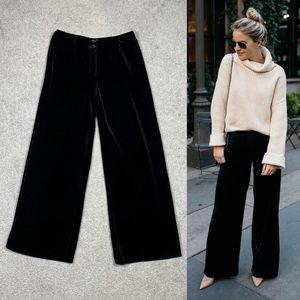 NWT Vintage Silk Velvet Wide Leg Palazzo Pants 6P